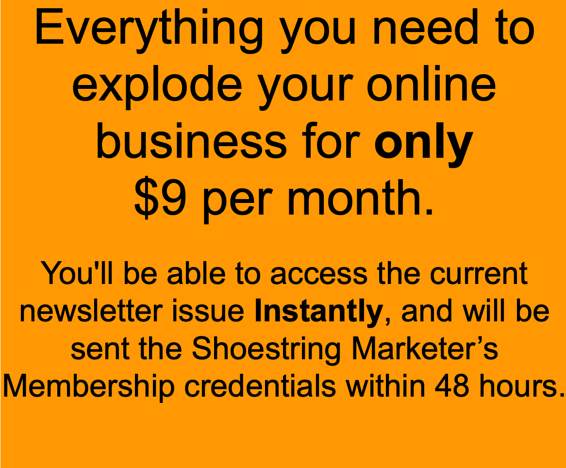 shoestring marketer's newsletter