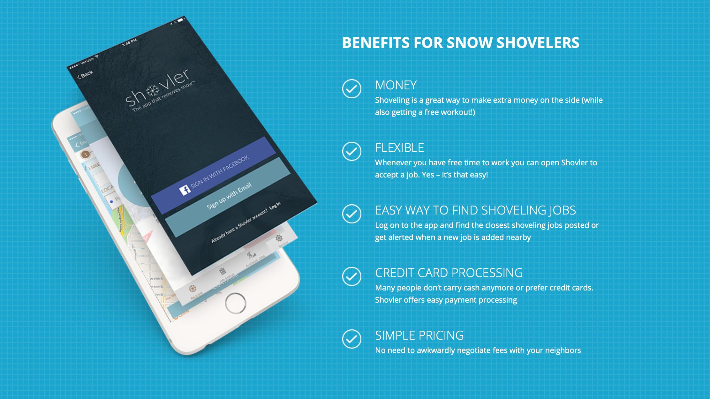 shoveler app